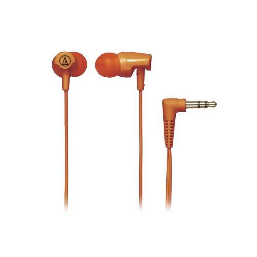 Audio Technica ATHCLR100OR In-Ear Headphones, Orange