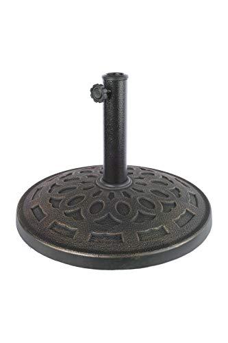 PerfectPatio Umbrella Stand - Metro Resin - Bronze