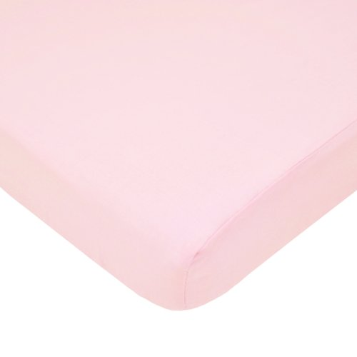American Baby Company Fitted Portable/Mini Crib Sheet, 100% Natural Cotton Percale, Pink, Soft Breathable, for Girls