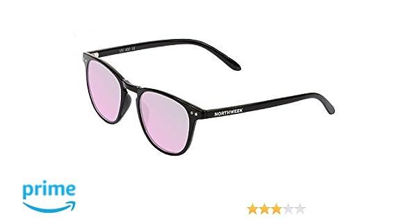 Northweek Wall Catalina - Gafas de Sol para Hombre y Mujer, Polarizadas, Negro/Rosa