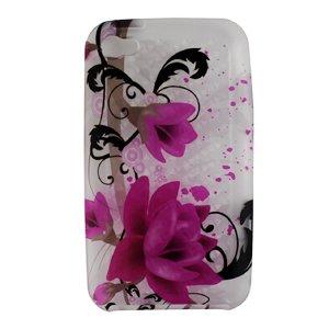 Purple Rose Flower Diamond Design Soft Silicone Skin Gel ...