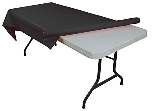 Black plastic table roll