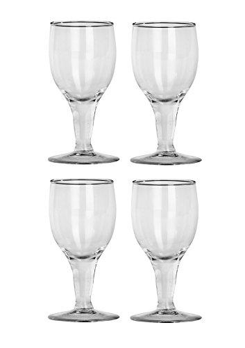 Somil Nashila Transparent Wine Glass Set of 4