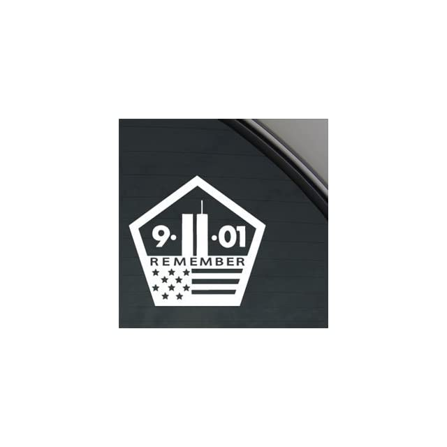 WORLD TRADE CENTER 911 MEMORIAL 5.5 (color WHITE) Vinyl Decal Window Sticker for Cars, Trucks, Windows, Walls, Laptops, and other stuff.