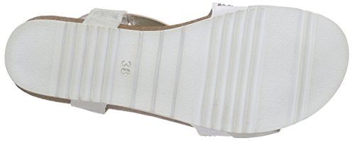 Marco Tozzi 28733, Women's Wedge Heel Open Sandals White - Weiß (White Comb 197)