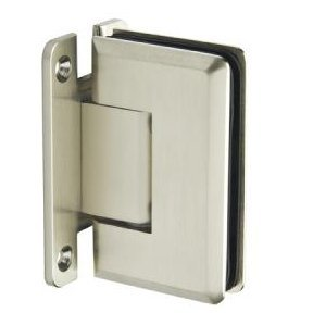 Mont Hard Wall to Glass Bevelled Shower Hinge in Bruhed Nickel Finish for Frameless Heavy Glass Shower Doors