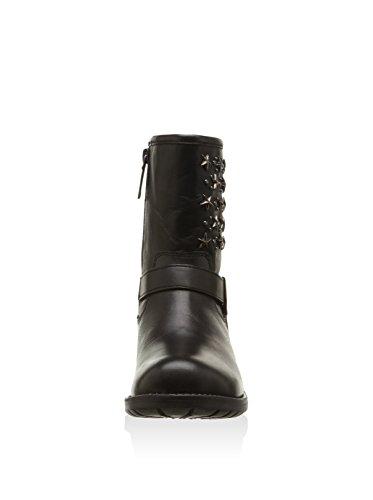 Fille Courtes Pepe Bottes Jeans Noir Black Doublure Noir de Star 999 Motard Froide RFg4Fa