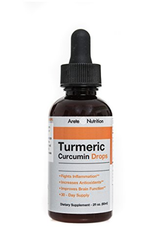 Turmeric Organic Cucumin Liquid Drops – Premium Absorption With Bioperine Pepper Fruit Extract – Large 2 ounces Review