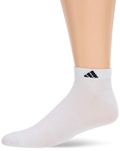 adidas Men's Superlite Low Cut Socks with arch compression (6-Pair),  White/Black, Size 6-12