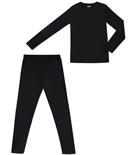 Mds 9 Stand (Boys Long Sleeve Crew Neck and Legging Set Black Size: M (8-10))