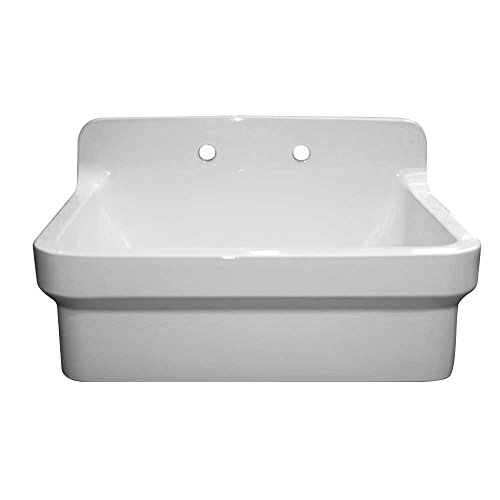 Whitehaus OFCH2230-WHITE Old Fashioned Country Kitchen/Utility Sink, White ()