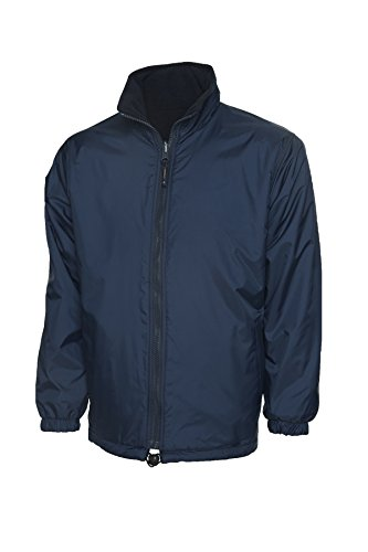 de chaqueta polar azul forro impermeable de marino ocio Premium aire trabajo libre al Reversible bolsillos abrigo PHq56pw