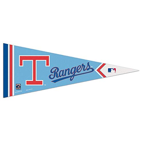 Texas Rangers Banner Flag - Bek Brands Baseball Teams Special Edition Flag Banner Pennant, 12 x 30 in, Cooperstown (Texas Rangers)