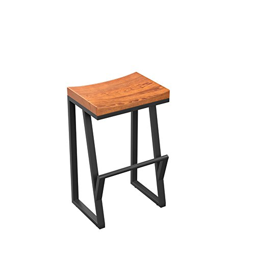 Bar Stool / Iron Bar Stool / Creative High Stool / Lounge Bar / Front Chair / Coffee Chair ( Size : 63CM ) by Xin-stool