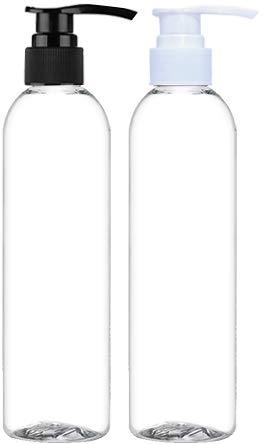 013875c3aae9 Amazon.com : Empty Lotion Pump Bottles, BPA-Free, 8 Oz Crystal Clear ...