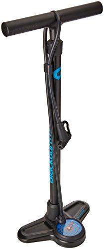 Blackburn Piston 2 Floor Pump - matte black/cyan, one size