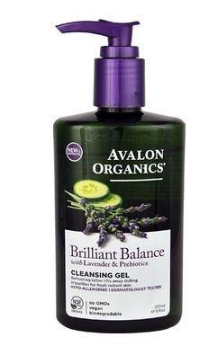 Avalon Organics Brilliant Balance Cleansing Gel with Lavender & Prebiotics -- 8 fl oz