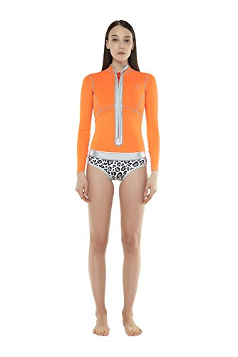 GlideSoul 0.5mm Front Zip Spring Suit, Peach/Leopard, XX-Small - Mix N Match 1 Light