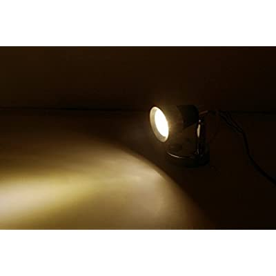 Dream Lighting 12V LED Chrome Reading Light -Black Lampshade Bedside Lamp - Warm White Lighting Map Light for RV, Car, Marine, Camper and Motorhome Pack of 2: Automotive