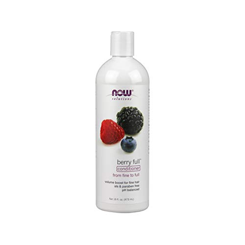 Berry Full Conditioner - NOW Solutions, Berry Full, Volume Boost Conditioner for Fine Hair with Biotin, pH Balnced, 16-Ounce