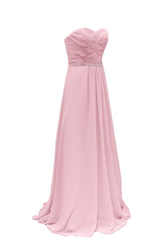 Diseño de la Toscana de novia de Gasa de noche en forma de corazón novia vestidos de novia de estrellas virgen bola a largo de la ropa Rosa