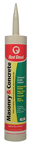 Red Devil 0646 Masonry and Concrete Acrylic Sealant Repair Gray 10.1 Oz Cartridge, 12