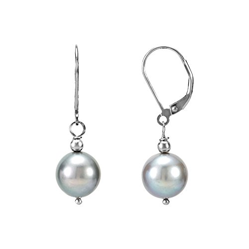 Round Gray Freshwater Pearls - 7