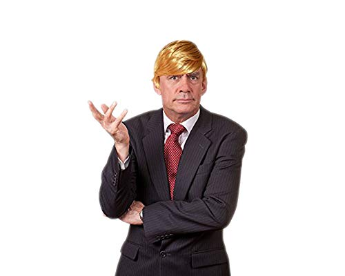 Funny Donald Trump Wig for Halloween - Special President Trump Costume Hairs & Wigs for Men, Adult and Kids]()