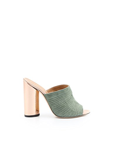 Para Vestir Cuero Verde Zapatos Ellis Marc Mujer De t7XaWq