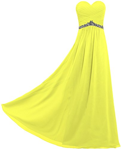 for Women's ANTS Evening Dresses Yellow Party Strapless Chiffon Long wpWdzZXqA