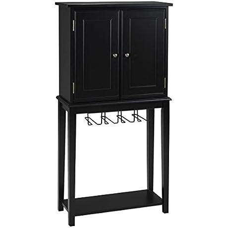 Brassex 102400TX BLK Bar Cabinet