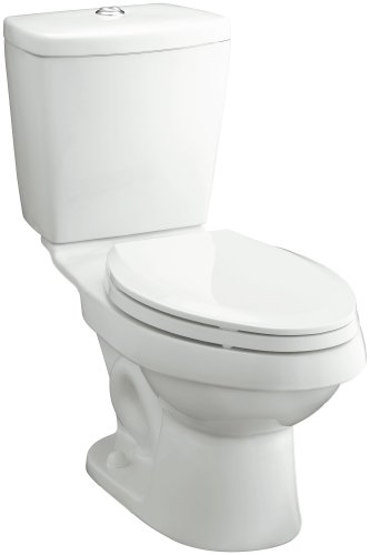 Sterling 402028-0 Karsten 12-Inch Rough-in Elongated Toilet with Dual Force Technology, White - Coupled Toilet 12 Rough