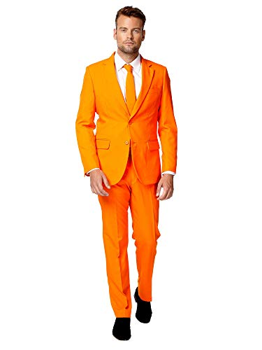 OppoSuits Men's Party Costume Suit, Orange, 40 -