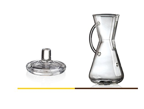 Chemex Bundle: Chemex 3-Cup Glass Handle Coffee Maker with Chemex Glass Coffee Maker Lid (Bundle)