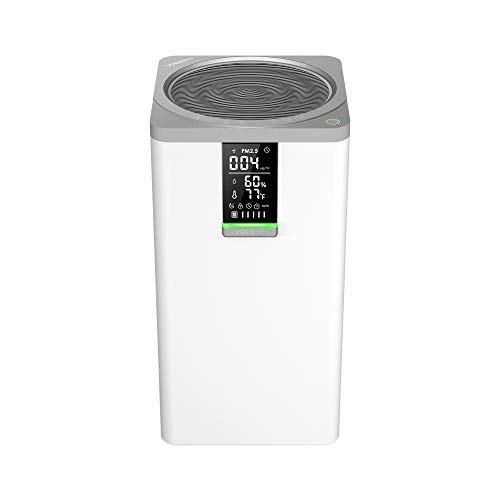 🥇 VOCOlinc Apple HomeKit WiFi HEPA Purificador de Aire Inteligente 60m2 99.97% Eficiencia Funciona con Siri Alexa Google 295 CFM Filtración 3 Etapas para el Hogar Oficina Habitación