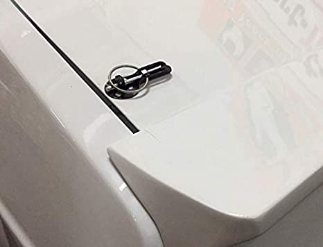 elegantstunning Universal Black Car Flush Hood Mount Bonnet Latch Catch Pin Key Locking Kit,Black