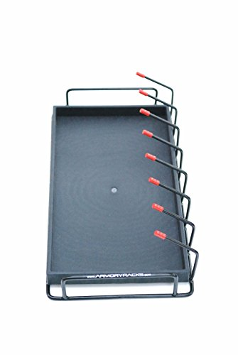 Armory Racks 8 Gun Store, Secure & Carry Handgun Pistol Rack with Tray