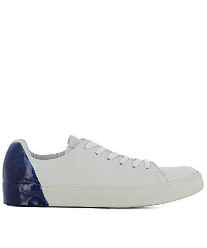 Premiata Hombre 31036POLOBIANCOBLU Blanco/Azul Cuero Zapatillas