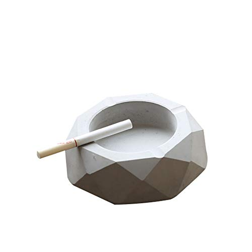 - SUNTRE Ashtray Simple Creative Fashion Grey Cement Geometry Four Corners Home Decorations Suitable for Any Scene Size 12123cm Can Be Used As Storage Collection Decoration