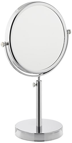 Frasco Mirrors Vanity Stand Double Sided Mirror, Chrome, 3.4 lb. by Frasco Mirrors (Image #1)