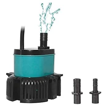 boxtech Submersible Water Pump - Ultra Quiet Mini 265 GPH 25W with 6ft High Lift Powerhead Fountain Pump for Aquarium Fish Tank, Pond, Rockery and Hydroponics with 2 Nozzles