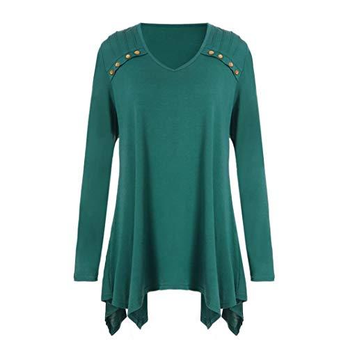 (Women Autumn Blouse Winter Loose Long Sleeve Button Plus Size Tops Blouse T-Shirts ❤️)