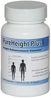 PureHeight Plus Height Enhancement Vitamins - Helps You Grow Taller - Increases Bone Strength, Builds Bone Density, Stimulates Bone Growth - One-A-Day (30 Capsules)