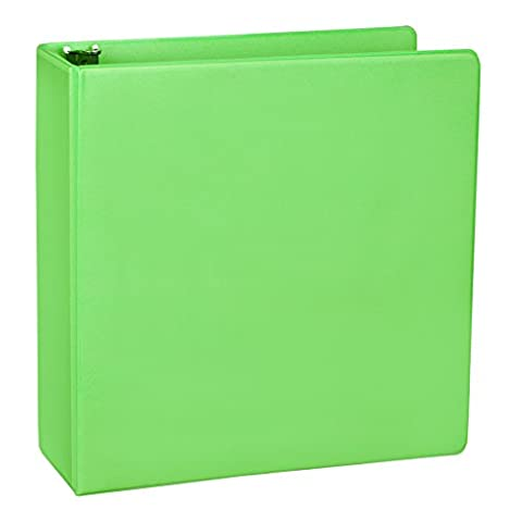 Samsill Fashion Color Durable 3 Ring View Binders, 2 Inch Round Ring, Customizable Clear View Cover, Lime Green, Two (Binders 3 Ring Fashion)
