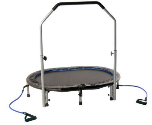 Stamina Avari Oval Jogger Rebounder Trampoline w/ Handlebar and Monitor NEW