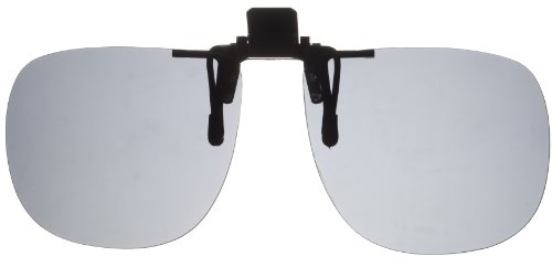 Fisherman Eyewear 8FCO Clip On Original Black Square Frame Polarized Sunglasses (Gray - Ridiculous Sunglasses
