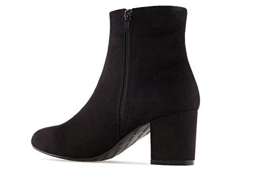 Andres Machado Damen Stiefelette - Schwarz Schuhe in Übergrößen