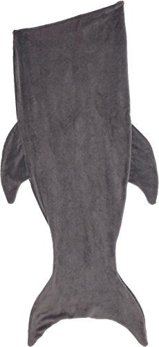 Silver Lilly Shark Tail Blanket - Plush Animal Sleeping Bag Blanket for Kids by (Grey) by Silver Lilly (Image #5)