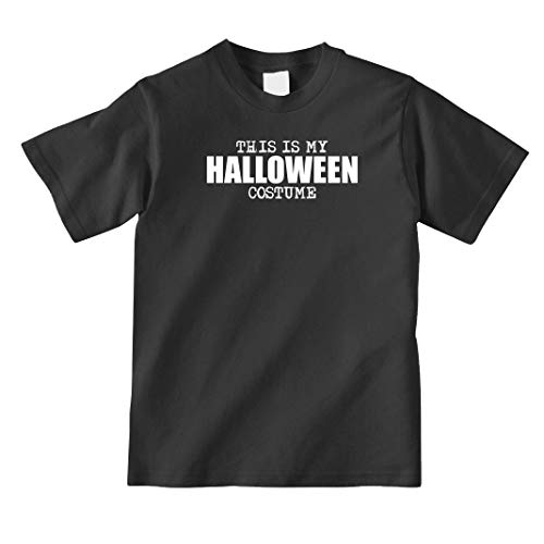 Uncensored Shirts This is My Halloween Costume Youth Shirt - X-Large - Black -
