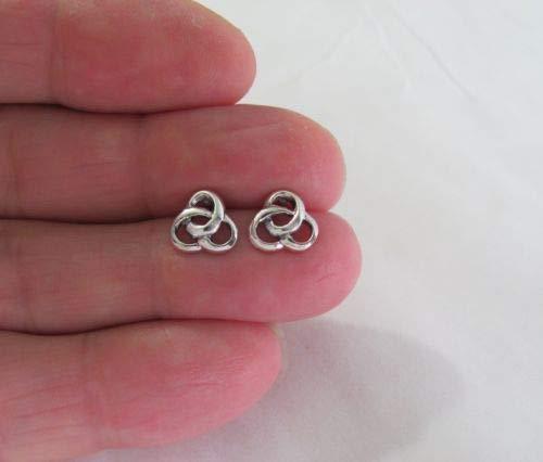 (Sterling Silver 9mm Celtic Trinity Knot Post Stud Earrings. - Jewelry Accessories Key Chain Bracelet Necklace Pendants)